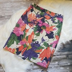 J Crew floral No. 2 pencil skirt
